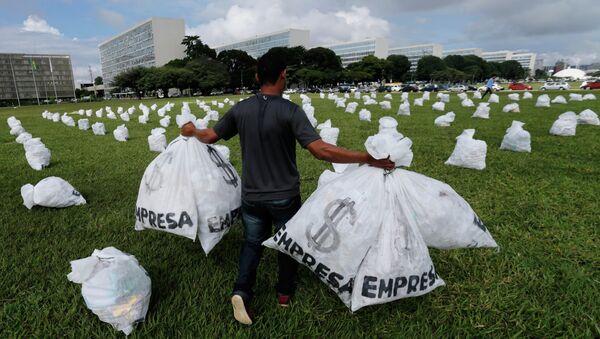 ONG brasileña protesta contra la financiación de partidos - Sputnik Mundo