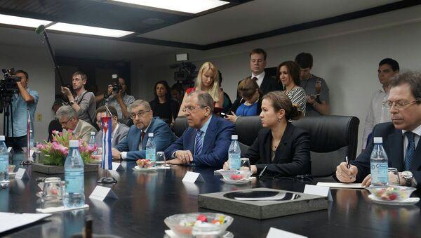 Ministro de Asuntos Exteriores de Rusia, Serguéi Lavrov, durante su visita a Cuba - Sputnik Mundo