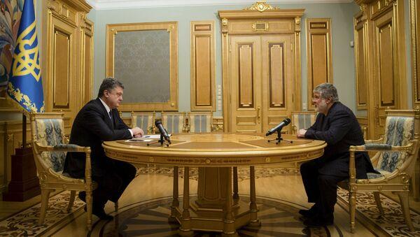 Presidente de Ucrania, Petró Poroshenko y Ígor Kolomoiski - Sputnik Mundo