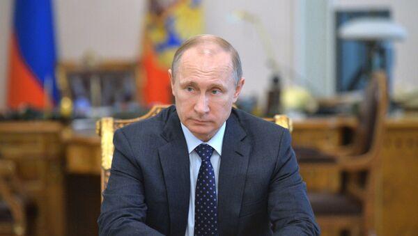 Президент РФ В.Путин провел совещание с постоянными членами Совета Безопасности РФ - Sputnik Mundo