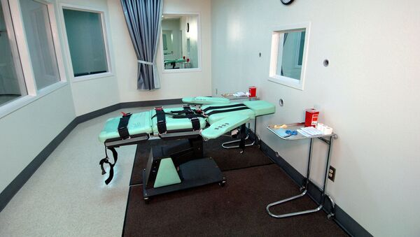 La cámara de ejecución de la Prisión Estatal de San Quentin (California) - Sputnik Mundo