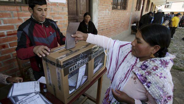 Las elecciones en Bolivia (archivo) - Sputnik Mundo