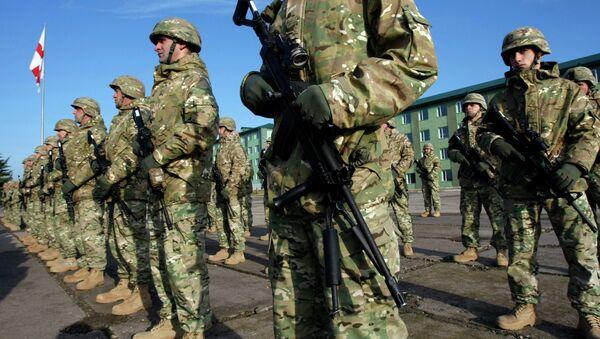 Soldados georgianos en la base militar Vaziani - Sputnik Mundo