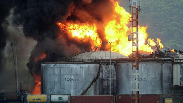 Incendio en Santos de Brasil - Sputnik Mundo