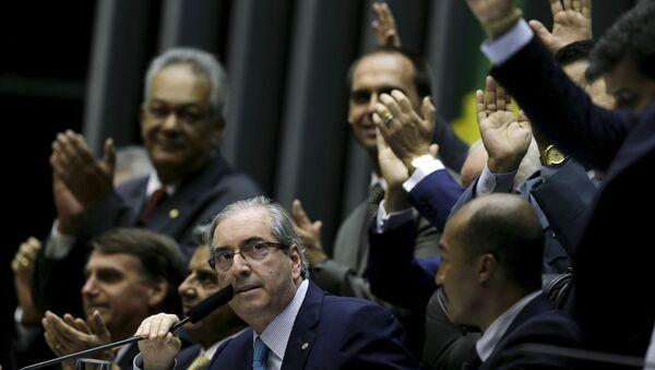 President of the Chamber of Deputies deputy Eduardo Cunha at the session of the Chamber of Deputies in Brasilia - Sputnik Mundo