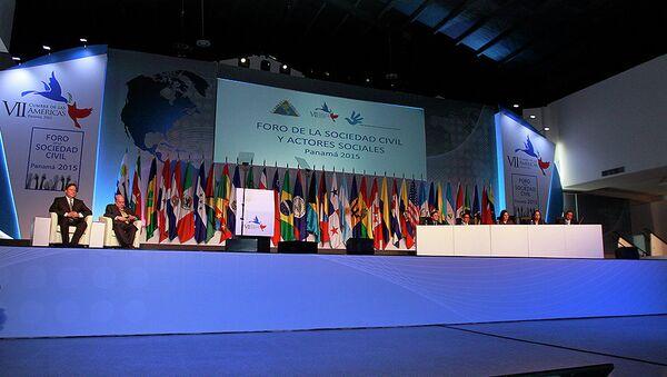 Inauguran Foro de la Sociedad Civil en el marco de la VII Cumbre de las Américas - Sputnik Mundo