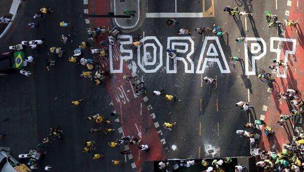 La segunda manifestación del Movimiento Brasil Libre tiene un 72% menos de participación - Sputnik Mundo