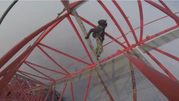 "Un ""hombre araña"" ruso toca el cielo de Shanghai - Sputnik Mundo"