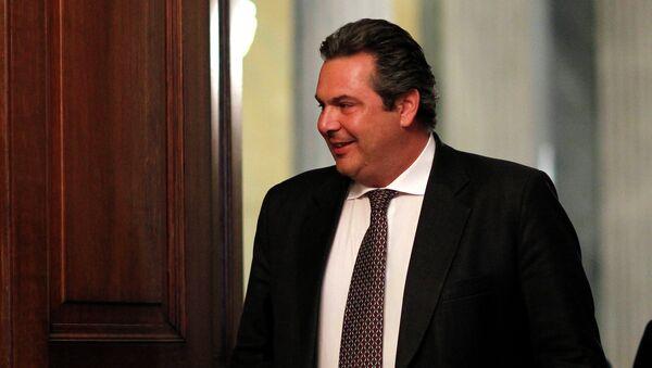 Panos Kammenos, ministro de Defensa de Grecia - Sputnik Mundo