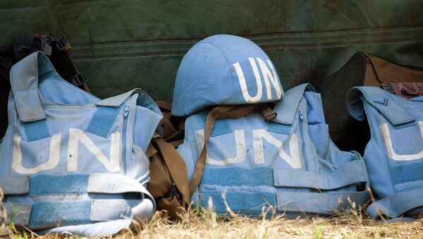Helmet and flack jackets of the members of the United Nations Peacekeeping Mission - Sputnik Mundo