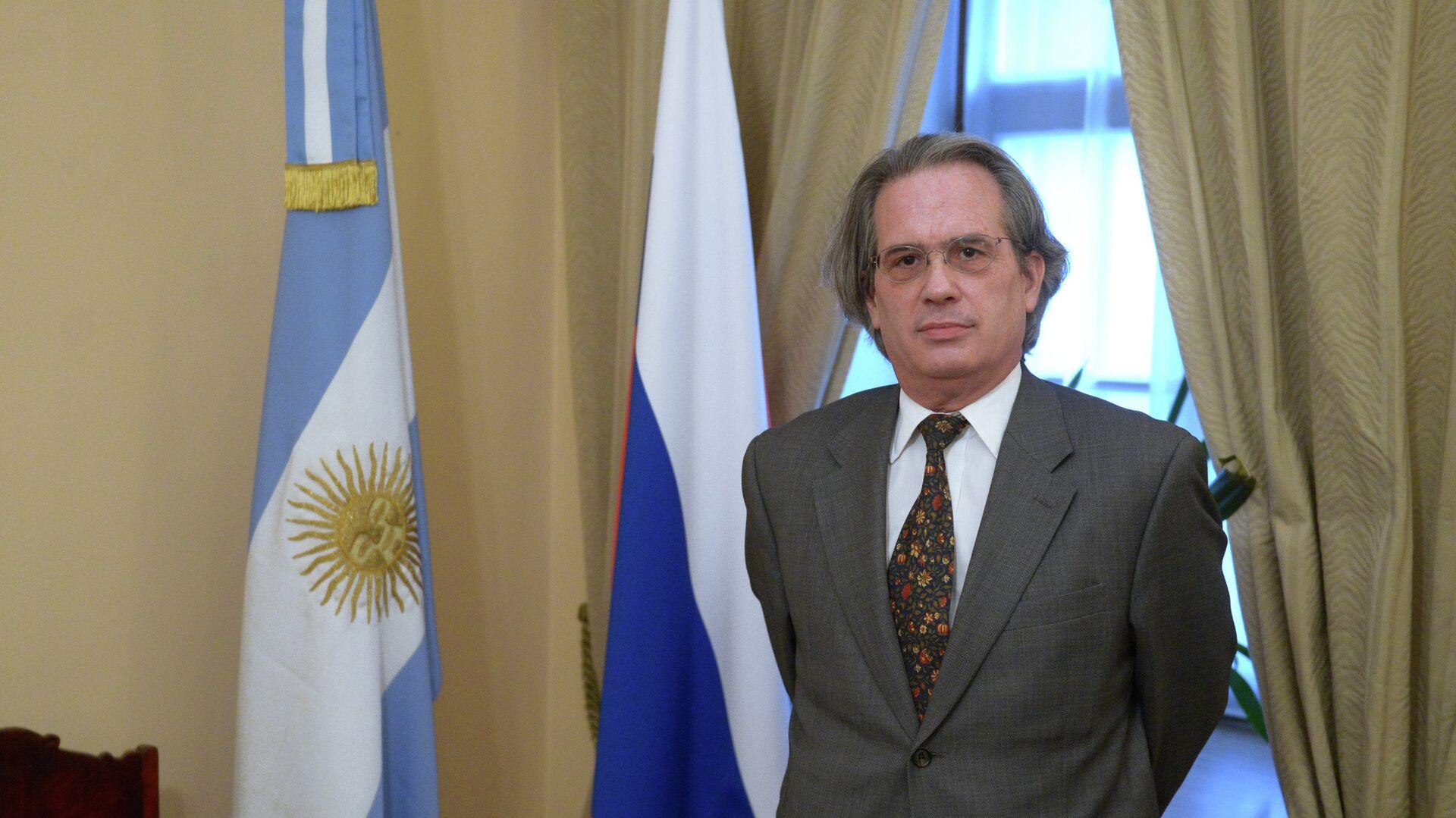 Pablo Tettamanti, embajador de Argentina en Rusia, durante una entrevista en Moscu - Sputnik Mundo, 1920, 06.10.2021