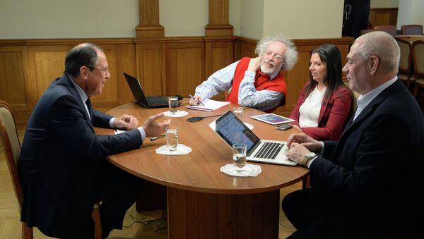 Gran entrevista de Serguéi Lavrov con medios rusos - Sputnik Mundo