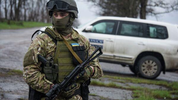 Militare ucranianos cerca de Donetsk - Sputnik Mundo