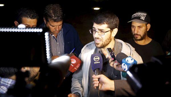 Omar Mahmoud Faraj y Abdul din Muhammed Tawes en Montevideo - Sputnik Mundo