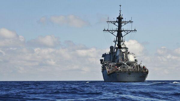 Destructor estadounidense USS Porter - Sputnik Mundo