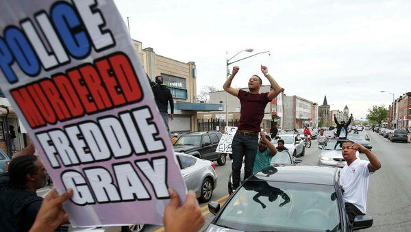 La protesta en Baltimore - Sputnik Mundo