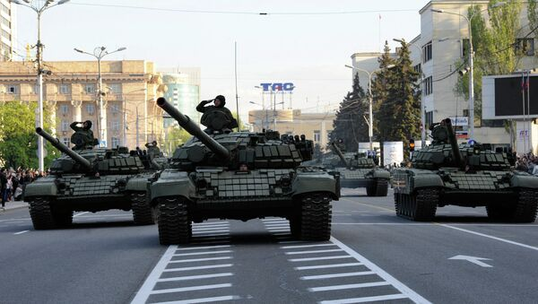 Ensayo de la Parada de la Victoria en Donetsk - Sputnik Mundo