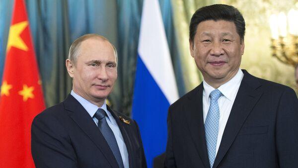 Presidente de Rusia, Vladímir Putin, y presidente de China , Xi Jinping, durante su encuentro en Kremlin. Moscú, 8 de mayo de 2015 - Sputnik Mundo