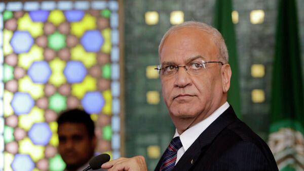 Saeb Erekat, jefe de los negociadores palestinos - Sputnik Mundo