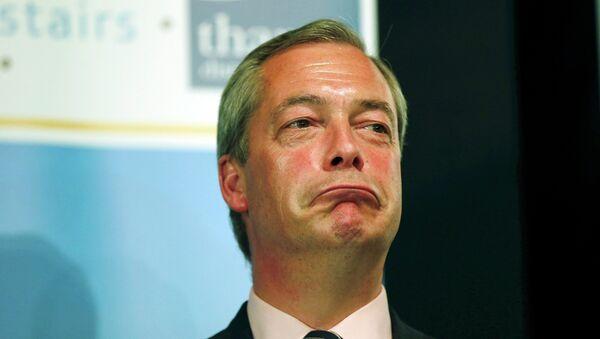 Nigel Farage, líder del Partido por la Independencia de Reino Unido (UKIP) - Sputnik Mundo