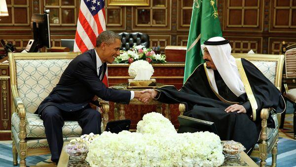 Presidente de EEUU, Barack Obama, y rey de Arabia Saudí, Salmán bin Abdulaziz Al Saúd (archivo) - Sputnik Mundo