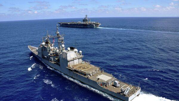 Buques de guerra de EEUU en el mar del Sur de China (Archivo) - Sputnik Mundo
