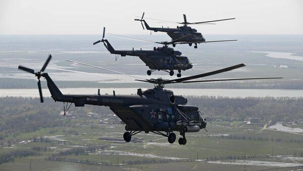 Helicópteros de transporte y combate Mi-8AMTSh (Mi-171Sh) - Sputnik Mundo