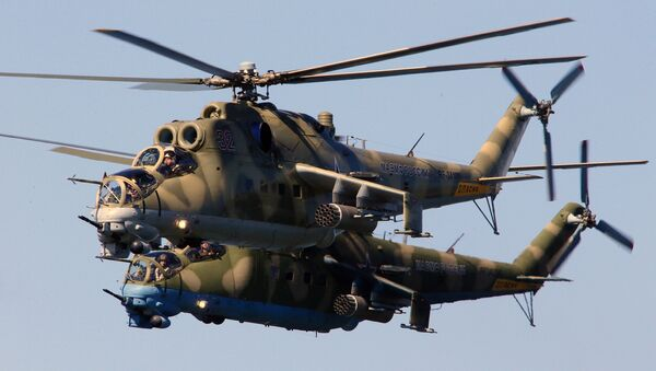 Helicópteros Mi-24 - Sputnik Mundo