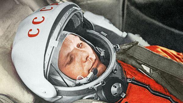 Yuri Gagarin, Gagarin, justo antes de ser el primer humano en alcanzar el cosmos, 12 de abril de 1961 - Sputnik Mundo