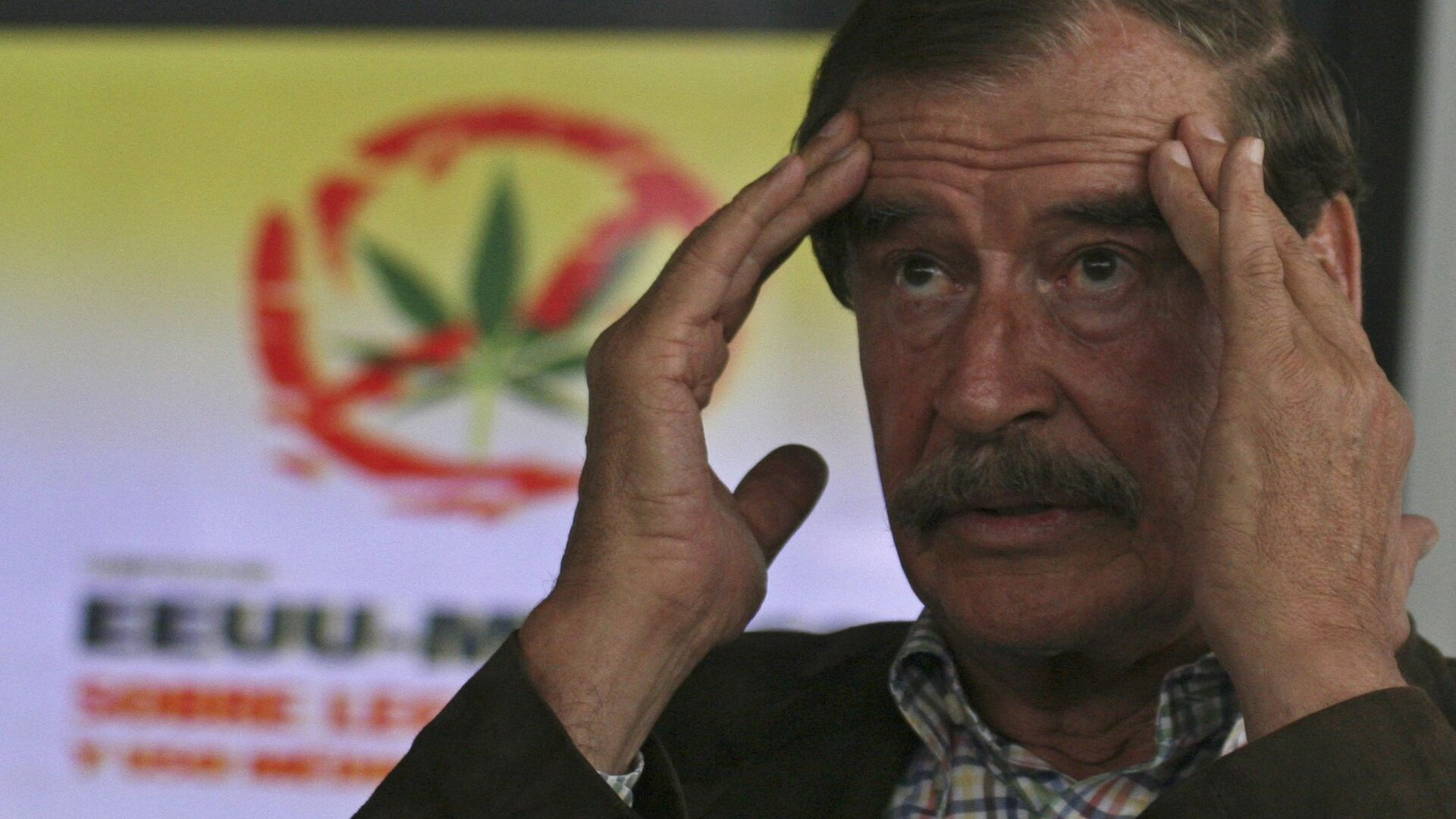 Mexico's former president Vicente Fox speaks during a news conference on the first day of the U.S.-Mexico Symposium on Legalization and Medical Use of Cannabis in San Francisco del Rincon, Mexico, Thursday, July 18, 2013 - Sputnik Mundo, 1920, 28.09.2021