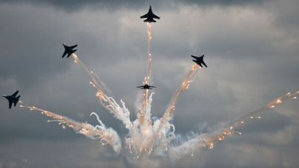 Concurso de pilotos militares Aviadarts 2015 - Sputnik Mundo