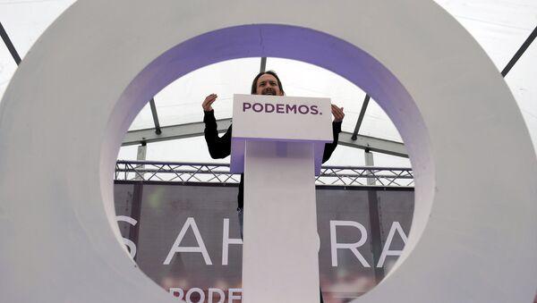 Pablo Iglesias, secretario general de la formación progresista Podemos - Sputnik Mundo