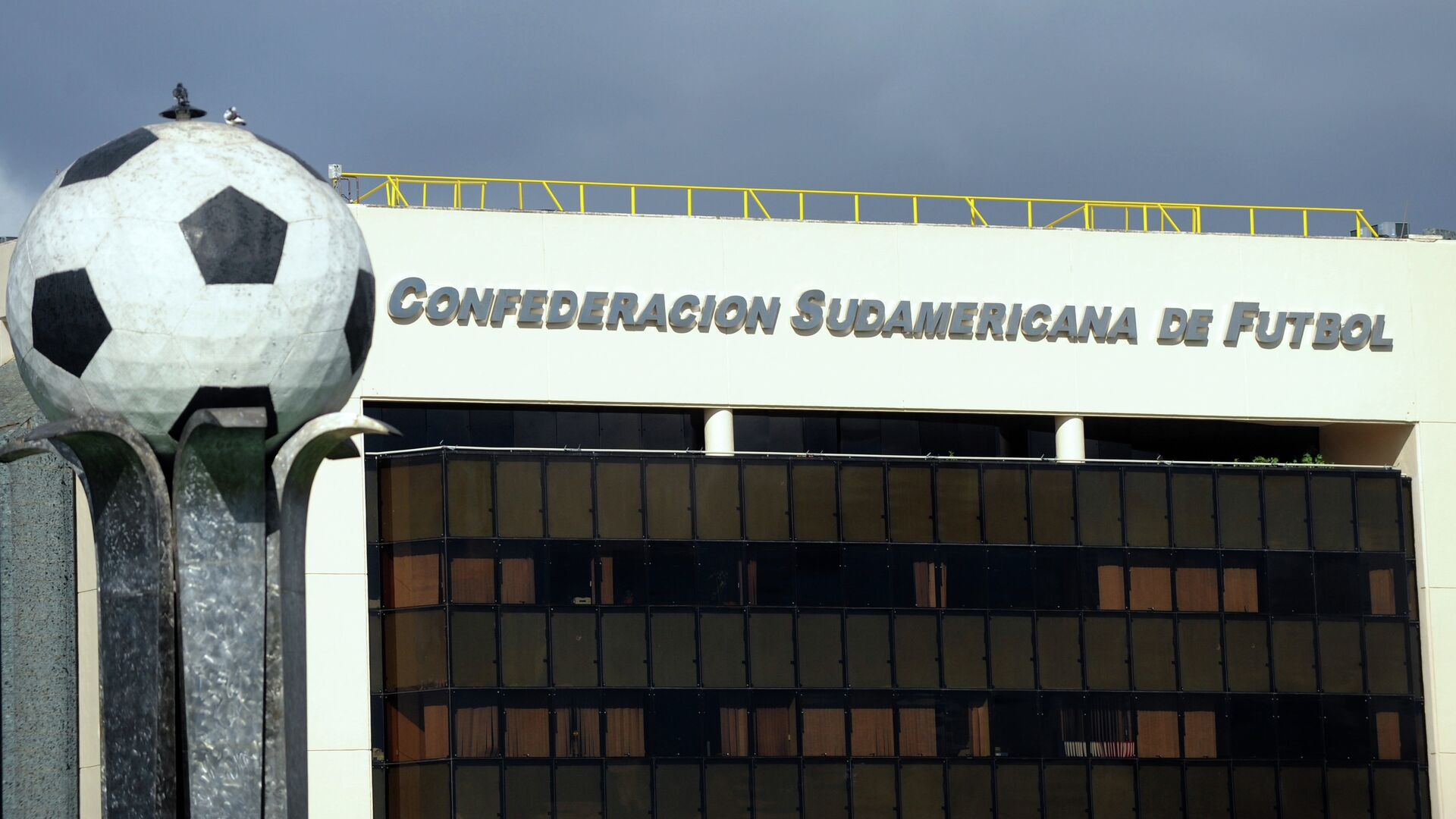 The South American Football Confederation (Conmebol) headquarters on May 28, 2015 in Luque, Paraguay.  - Sputnik Mundo, 1920, 11.10.2021