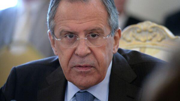 Serguéi Lavrov, jefe del Ministerio de Relaciones Exteriores de Rusia - Sputnik Mundo