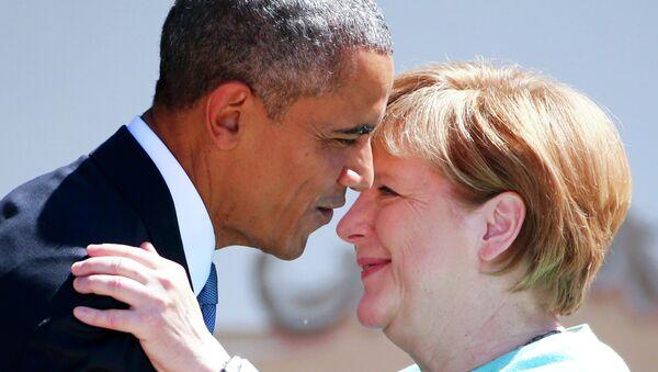 Presidente de EEUU, Barack Obama y canciller de Alemania, Angela Merkel (archivo) - Sputnik Mundo