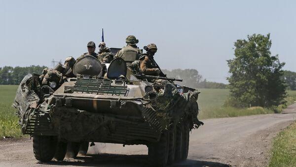Miembros de las fuerzas armadas de Ucrania en Donbás - Sputnik Mundo
