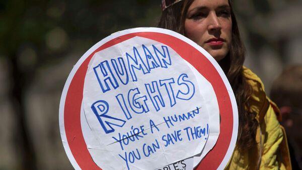 Una manifestación a favor de la Ley de Derechos Humanos en Londres - Sputnik Mundo