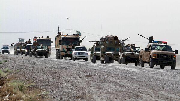 Paramilitares chiítas viajan hacia Ramadi para luchar contra el Estado Islámico - Sputnik Mundo