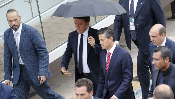 Primer ministro de Italia, Matteo Renzi, y presidente de México, Enrique Peña Nieto - Sputnik Mundo