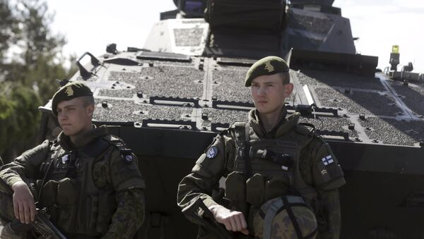 Soldados del Ejército de Finlandia (archivo) - Sputnik Mundo