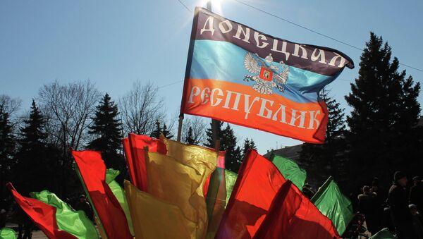 Bandera de Donbás - Sputnik Mundo