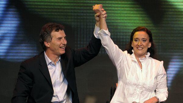 Líder de Propuesta Republicana, Mauricio Macri (izda.) y senadora Gabriela Michetti (archivo) - Sputnik Mundo