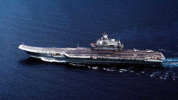Portaviones de la Armada de Rusia Almirante Kuznetsov (imagen referencial) - Sputnik Mundo