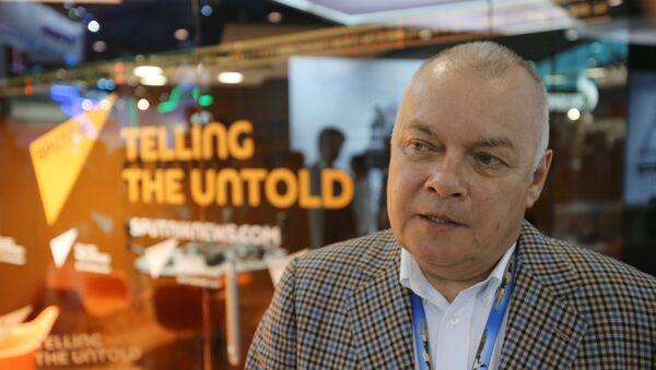 El director general de la agencia internacional Rossiya Segodnya, Dmitri Kiseliov - Sputnik Mundo