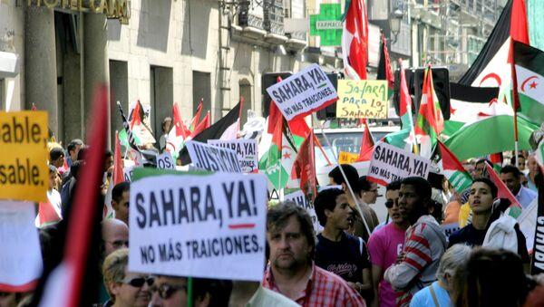 Manifestación en Madrid por la independencia de Sáhara Occidental - Sputnik Mundo