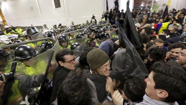 Protestas en Quito, la capital de Ecuador - Sputnik Mundo