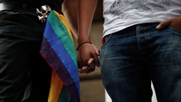 Los activistas celebran la legalización del matrimonio entre personas del mismo sexo en la asamblea de la Ciudad de México - Sputnik Mundo
