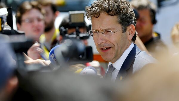 Jeroen Dijsselbloem, presidente del Eurogrupo, en Bruselas, Bélgica, el 25 de junio, 2015 - Sputnik Mundo