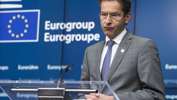 Jeroen Dijsselbloem, presidente del Eurogrupo en Bruselas, Bélgica, el 22 de junio, 2015 - Sputnik Mundo