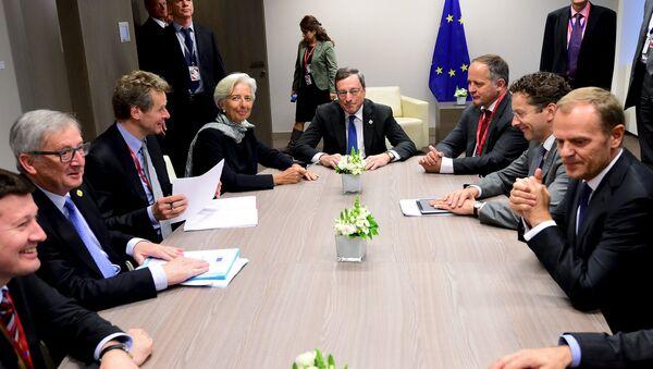 Representantes del Eurogrupo en Bruselas, Bélgica, el 22 de junio, 2015 - Sputnik Mundo